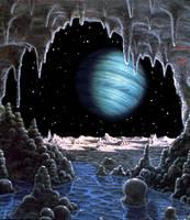 Neptune From Triton by AlanGutierrezArt