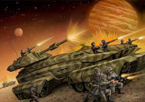 Warworld Codominium: The Burning Eye by AlanGutierrezArt