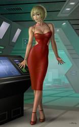 Galactica Number Six Variant by AlanGutierrezArt