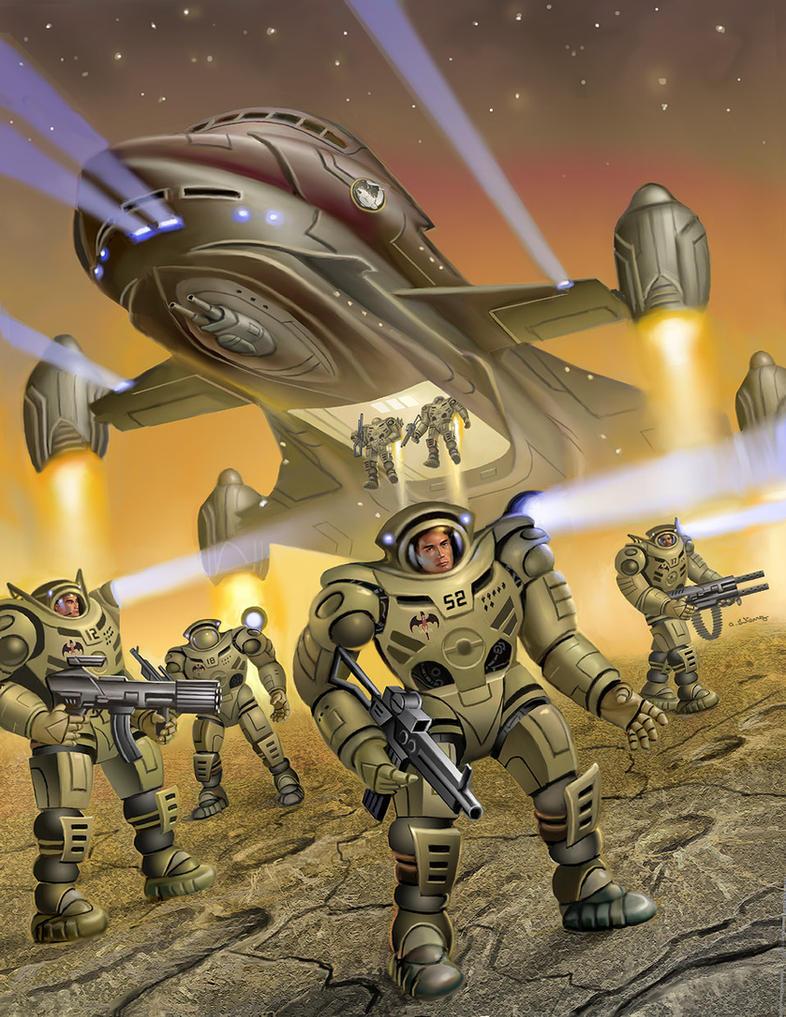 Terran League Strike Squadron by AlanGutierrezArt