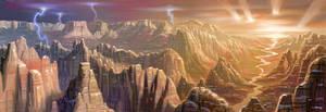 The Mountains Of Mars by AlanGutierrezArt