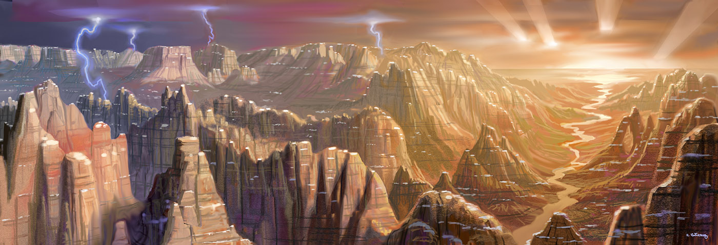 The Mountains Of Mars by AlanGutierrezArt