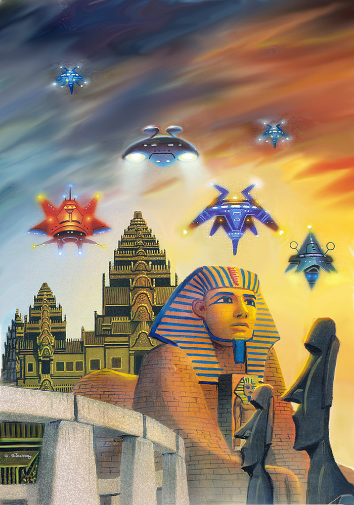 Earth History And Lost Civilizations by AlanGutierrezArt
