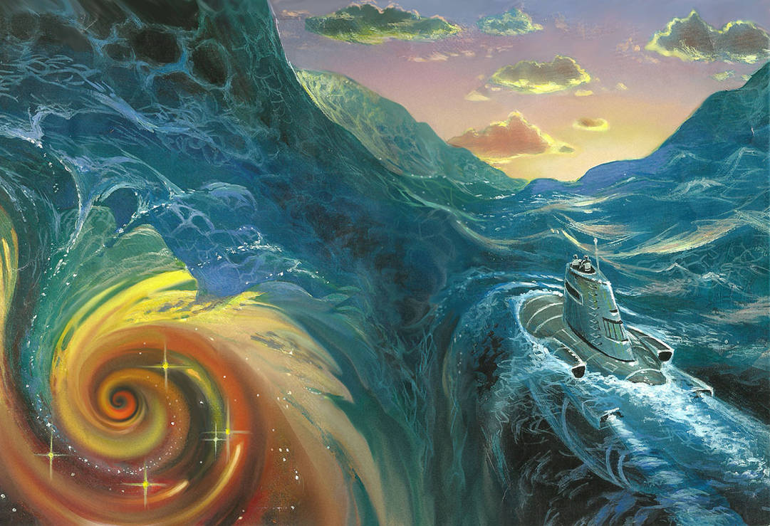 The Infinite Sea (Alternate Sketch) by AlanGutierrezArt