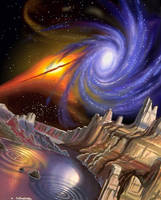Colliding Galaxies by AlanGutierrezArt