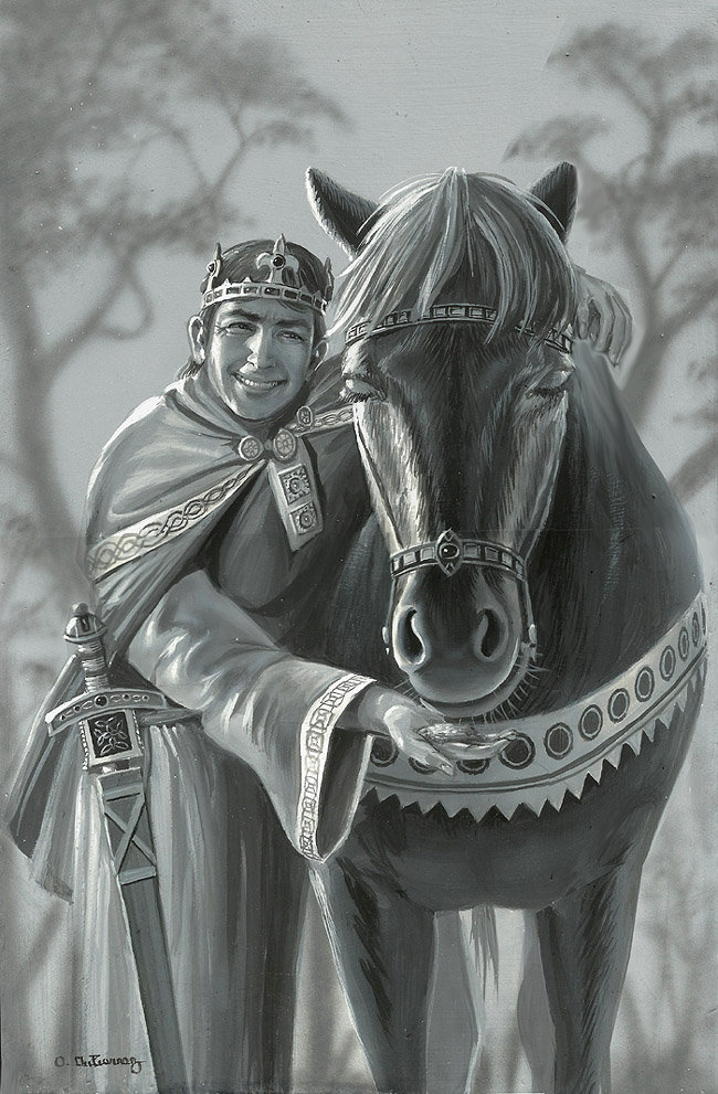Arthur And The Gift Horse by AlanGutierrezArt