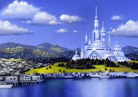 Port Town Castle by AlanGutierrezArt