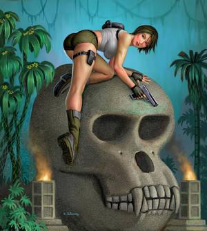 Lara Croft On Skull Island