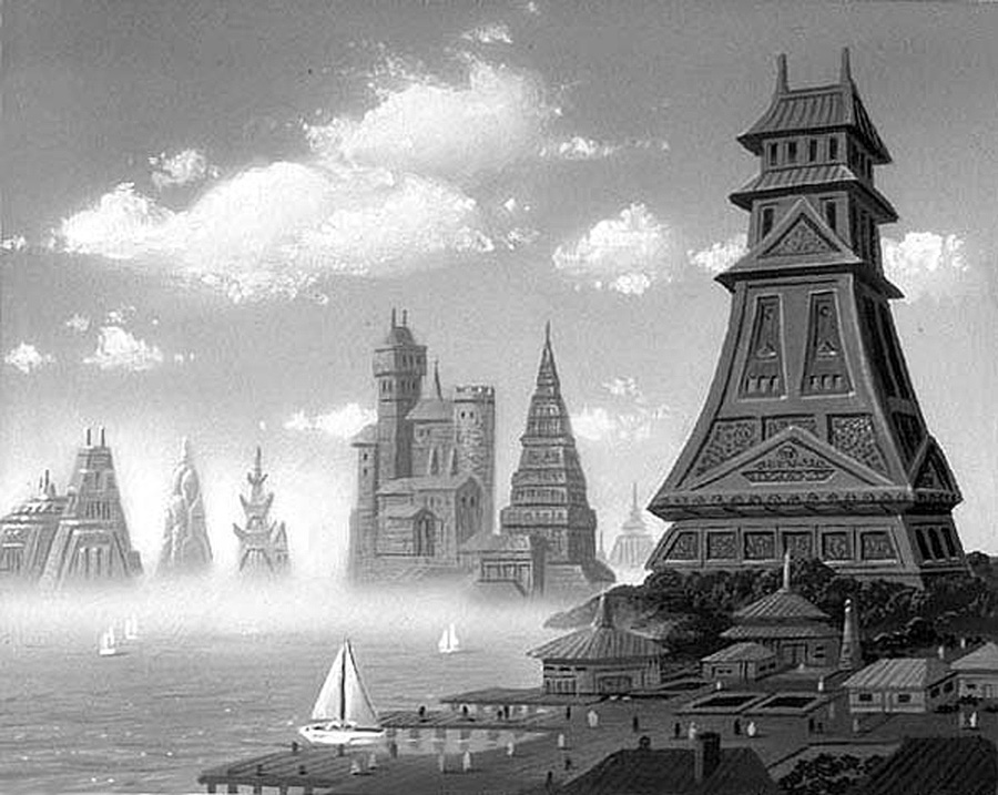 Castles By The Sea by AlanGutierrezArt
