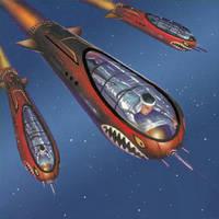 Kamikaze Doom Driver Torpedoes by AlanGutierrezArt