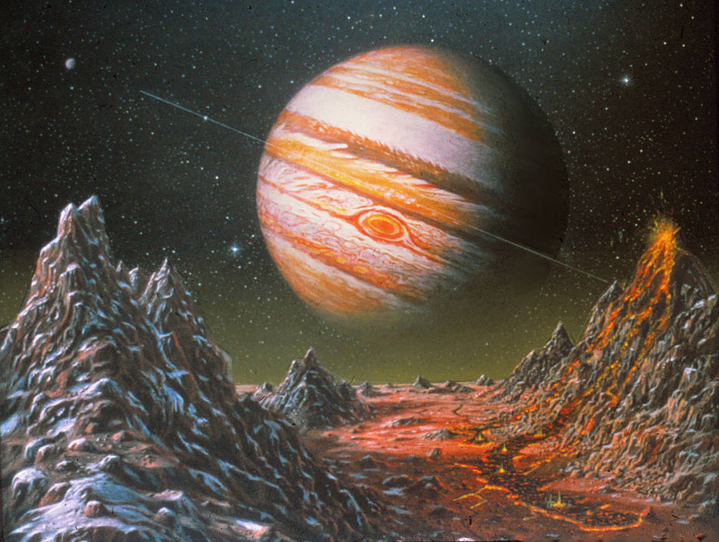 Jupiter From Io (original version) by AlanGutierrezArt