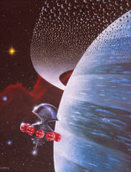 Ringed Planet by AlanGutierrezArt