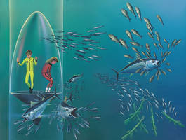 Oceanarium: More Schooling Fish by AlanGutierrezArt