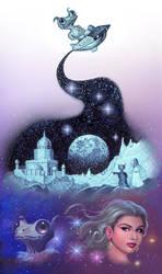 Alien And The Princess (Vignette) by AlanGutierrezArt