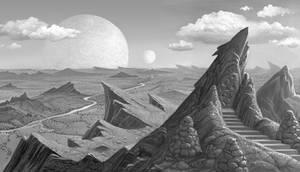 Temple Of Runes by AlanGutierrezArt