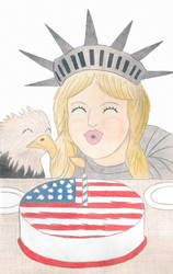 Fourth Of July Art Contest Collaboration by AlanGutierrezArt