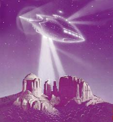 Sedona UFO Connection by AlanGutierrezArt