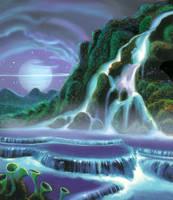 Waterfall by AlanGutierrezArt