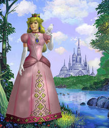 Princess Peach's Castle by AlanGutierrezArt