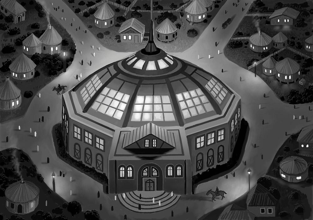 Vinnengael Townhall by AlanGutierrezArt