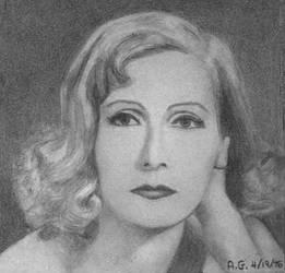 Greta Garbo Portrait 5 (first drawn portrait)