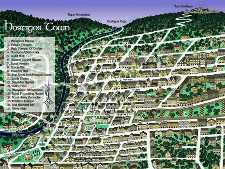 Hostigos Town Map