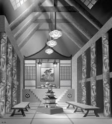 In A Japanese Castle by AlanGutierrezArt