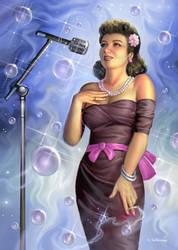 Cigarette Bubble Dreams (Helen Forrest Portrait)