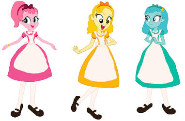 Wonderland AU Main 3 Care Bear Females