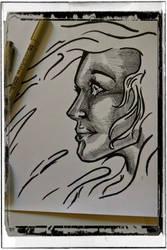 Girl Profile Illustration