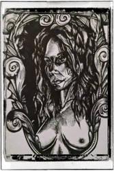 Filigree Girl Illustration