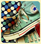 Retro Blue Chucks