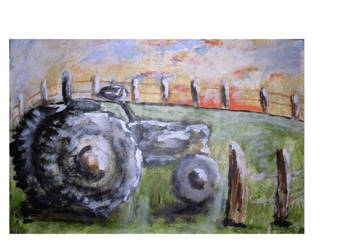Old Tractor SOLD by restlessjenn