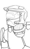 Master Chief [Gift] by RoyalBlackheart