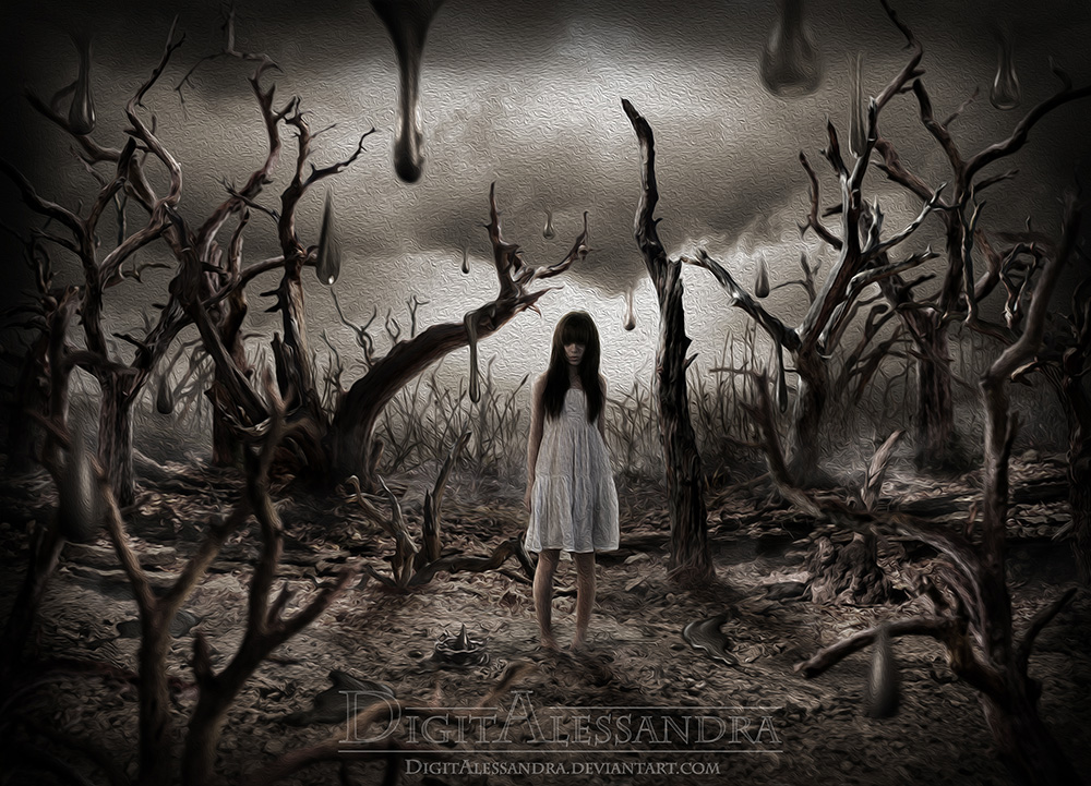In a wood of dead trees by digitalessandra