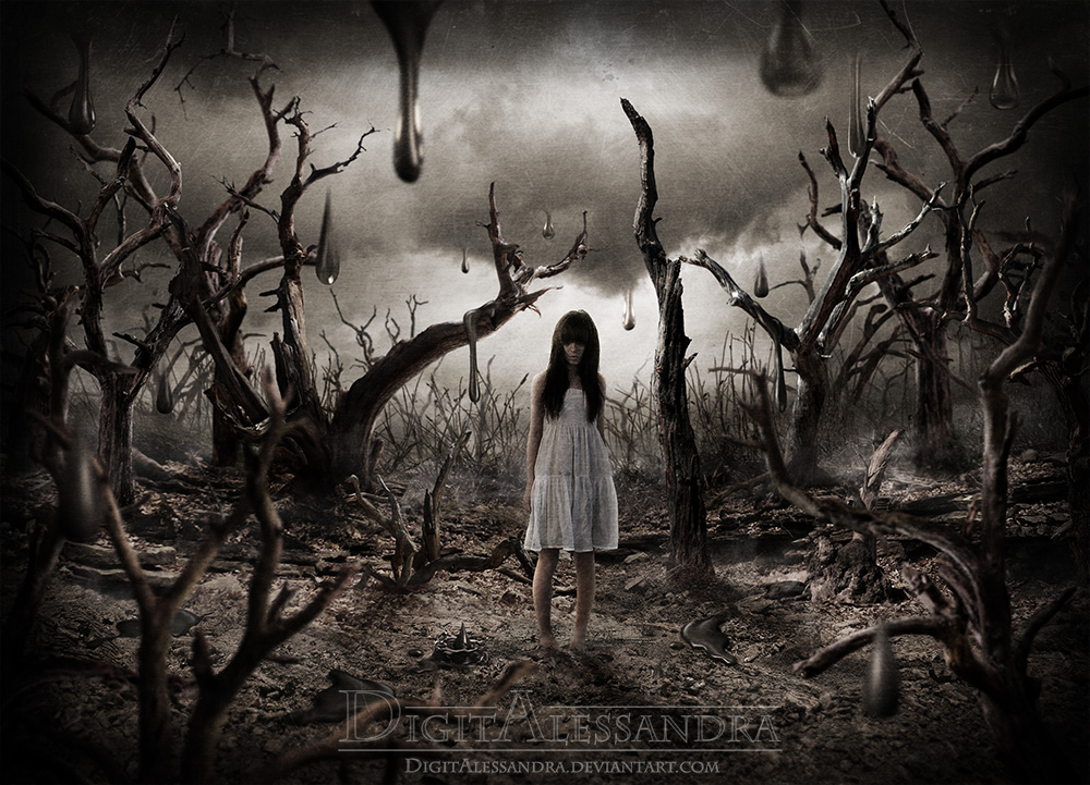 In a wood of dead trees (no painting effect) by digitalessandra