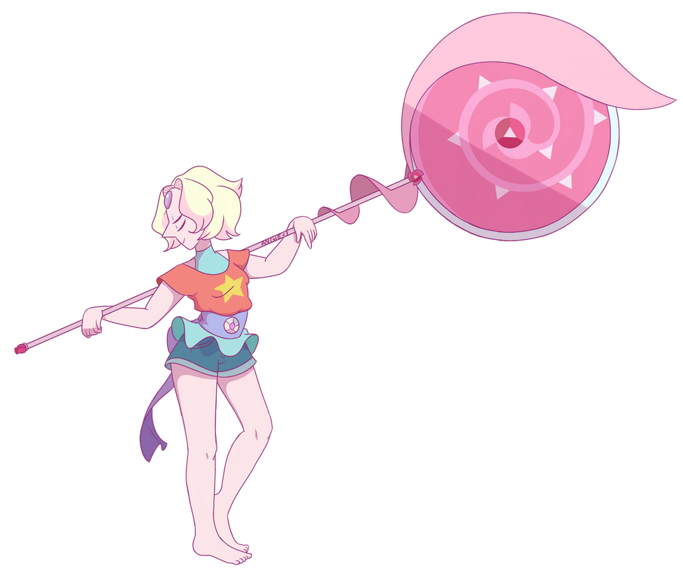 Steven and Pearl fusion - Rainbow Quartz 2.0 by