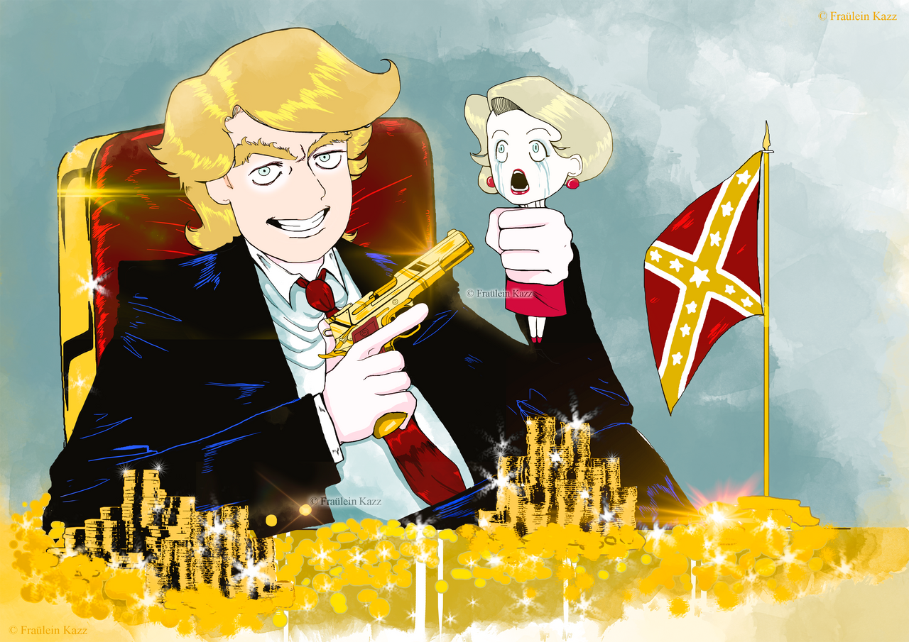 TRUMP: What about Hillary? by Fraulein-Kazz