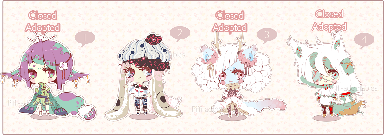 [CLOSED] ADOPT 06 - Little Adopt Set by Piffi-adoptables