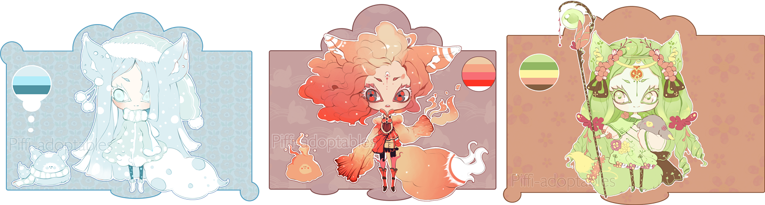 [CLOSED] ADOPT Auction 08 - Elemental by Piffi-adoptables