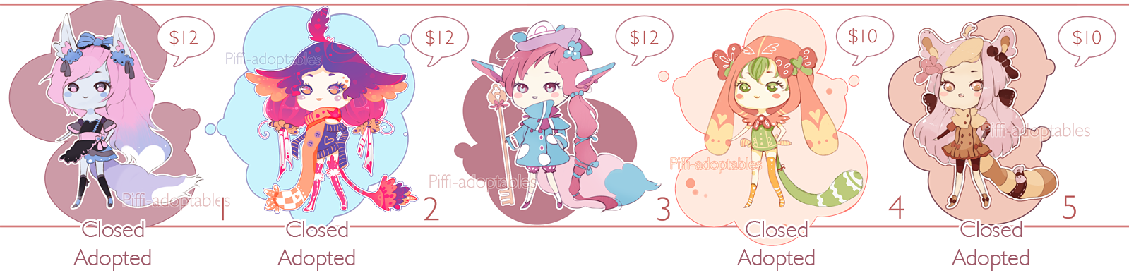 [CLOSED] ADOPT 13 - Little Adopt set by Piffi-adoptables