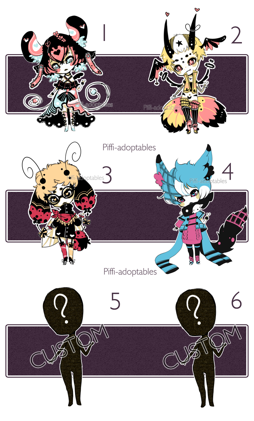 [CLOSED] ADOPT 19 - Set by Piffi-adoptables