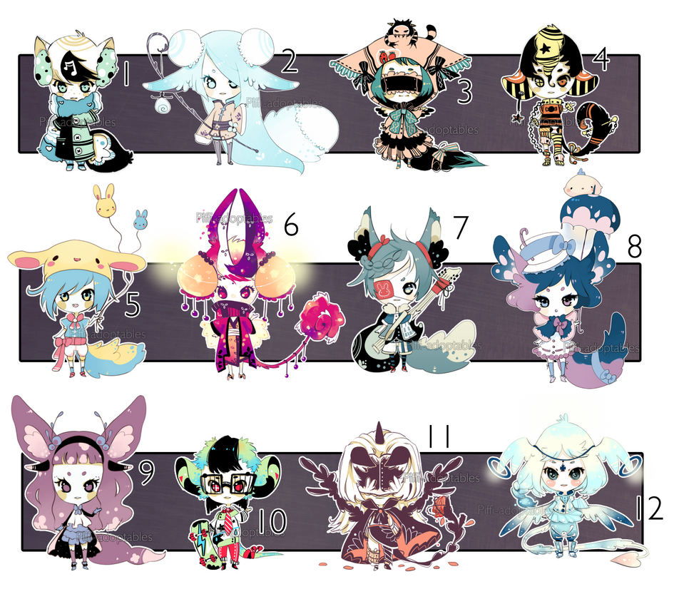[CLOSED] ADOPT 24 - Multiple adopt by Piffi-adoptables
