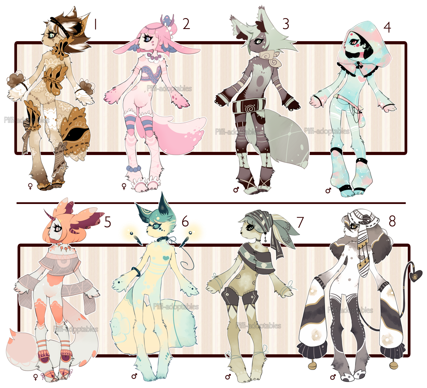 [CLOSED] ADOPT Auction 25 - No-Human set by Piffi-adoptables
