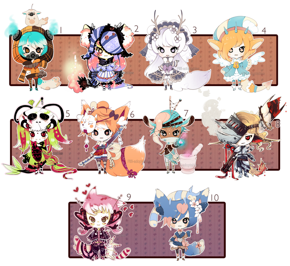 [CLOSED] ADOPT 27 - Multiple adopt set 2 by Piffi-adoptables