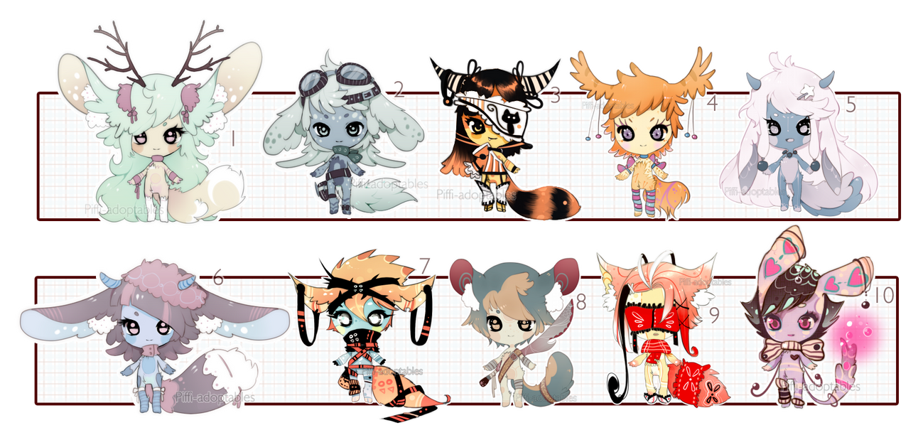 [CLOSED] ADOPT AUCTION 29 - no human set by Piffi-adoptables