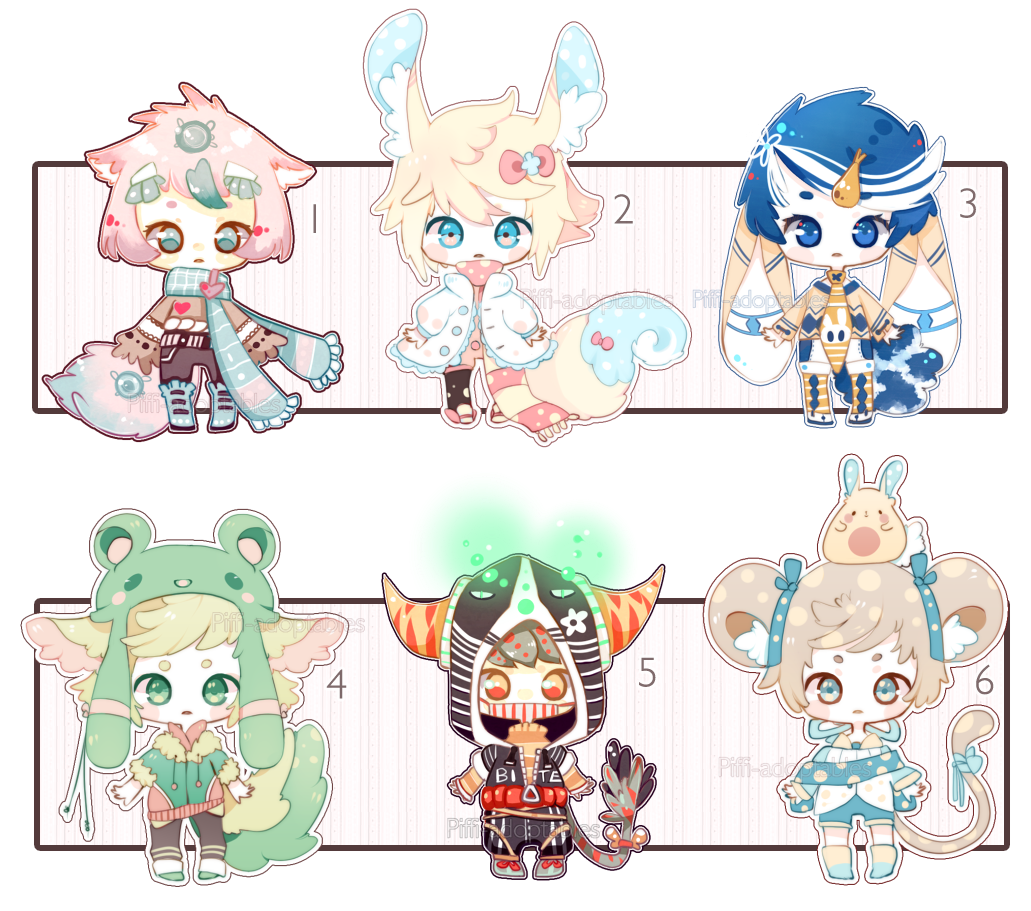 [CLOSED] ADOPT 33 - multiple adopt by Piffi-adoptables