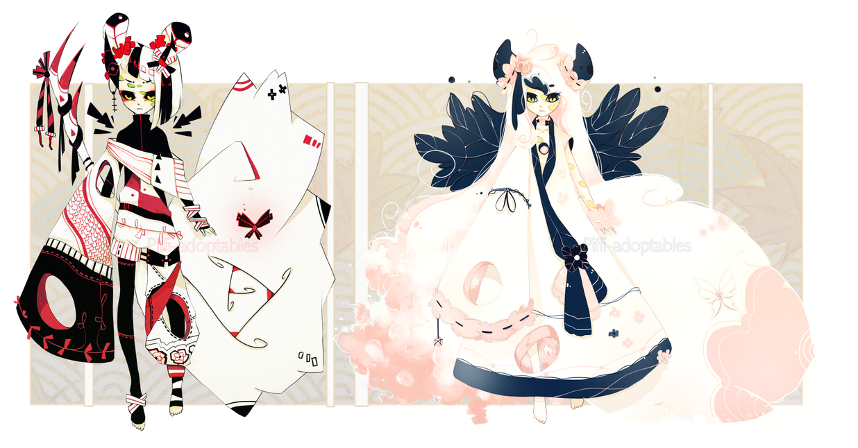 [CLOSED] ADOPT AUCTION 39 - Enigma Species by Piffi-adoptables