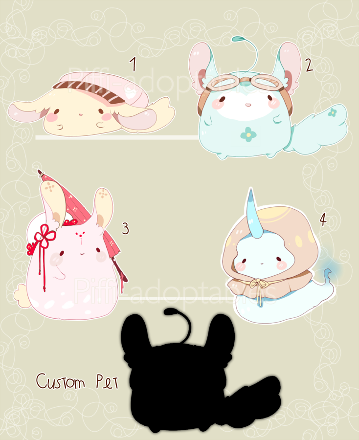 [CLOSED] ADOPT AUCTION 43 - Pet by Piffi-adoptables