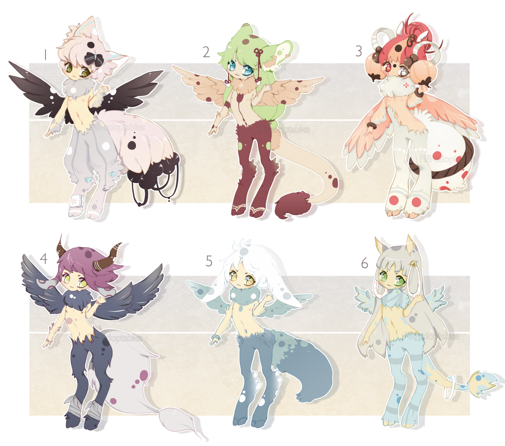 [CLOSED] ADOPT 50 - Winged Satyr by Piffi-adoptables